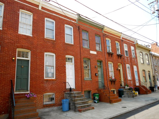 Douglass Row homes in Baltimore, Md. Public domain photo.