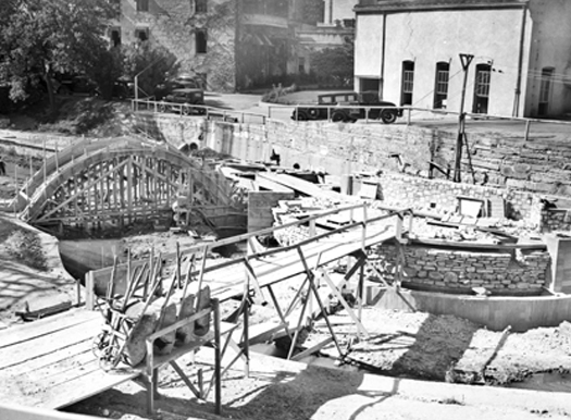 San Antonio's famous River Walk was developed as a Works Progress Administration project in the 1930s. Photo courtesy of UTSA Institute of Texan Cultures.