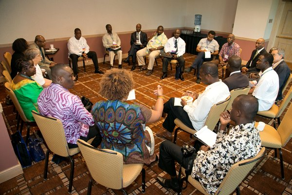 Day three of last year's conference in Jacksonville, Florida: Discussion with mayors from African cities and Sister Cities International's African partners. Courtesy photo.