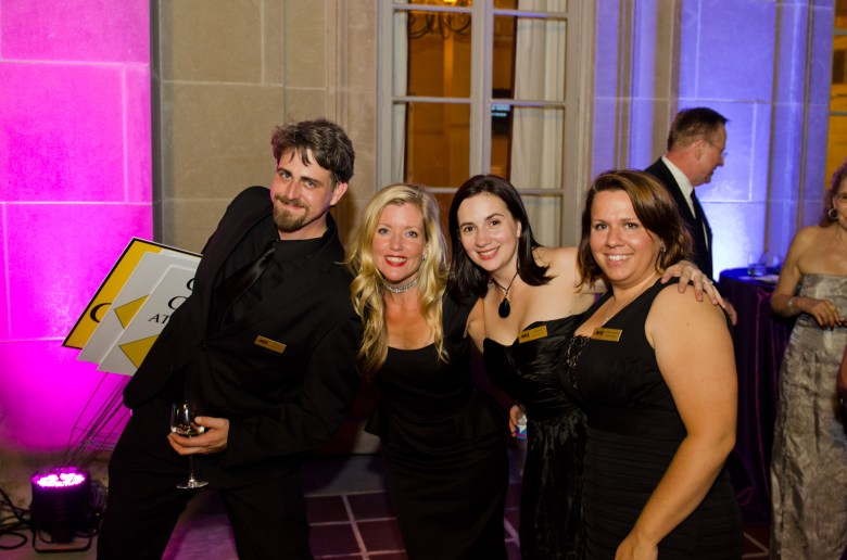 Asia and staff at a Playhouse fundraiser last year. (From Left) Ryan DeRoos, Asia Ciaravino, Pat Smith, and Virginia Provencher.
