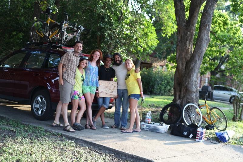The road trip group from San Antonio preparing to leave San Antonio