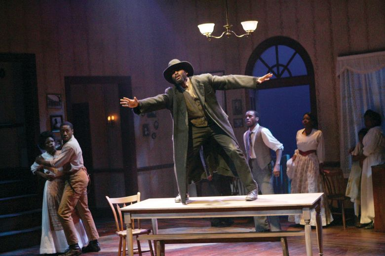 "Actor Sheldon Woodley performs in ""Joe Turner's Come and Gone."" Woodley is a Juilliard grad based in New York City who will act on Convergent's stage. Courtesy photo."