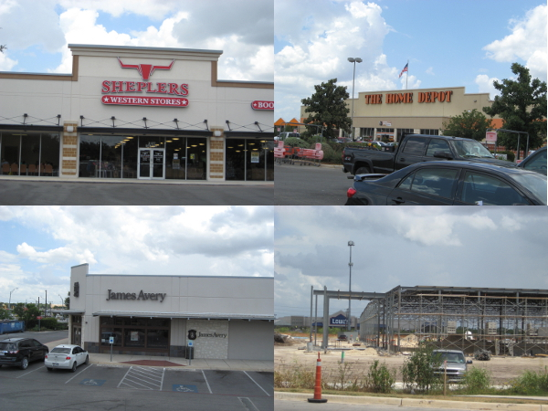 A smattering of chain stores on the Southside. Courtesy photos.
