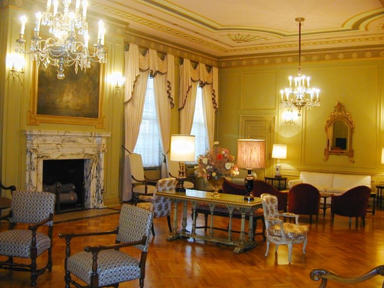 """The """"ladies lounge"""" inside the Scottish Rite Cathedral. Photo courtesy of the Scottish Rite."""