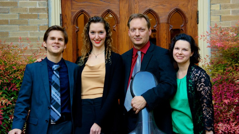 (From left) Matthew Zerweck, Anastasia Storer, Ken Freudigman and Emily Freudigman of Camerata Chamber Ensemble. Courtesy photo.