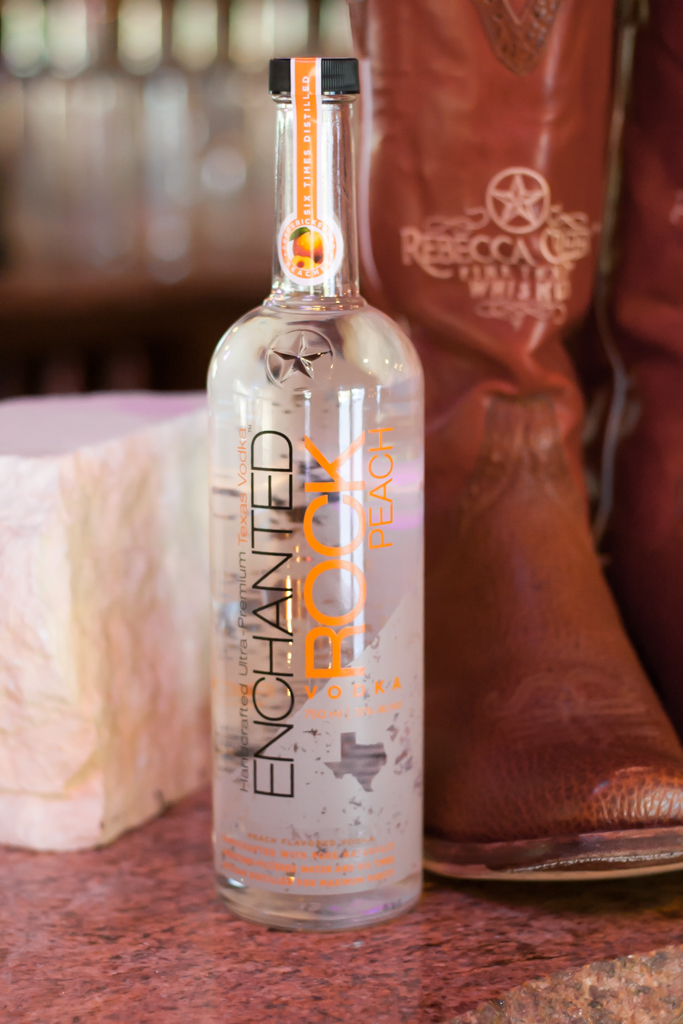 In spite of the late freeze and hail storm, Cameron was able to purchase some Fredericksburg peaches to make a new flavor of Enchanted Rock Vodka. Photo by Garrett Heath.