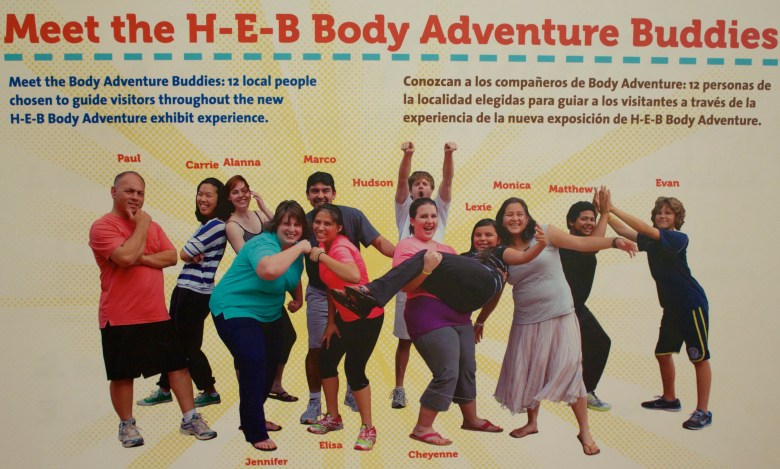 One of these fine folks will help guide you through the interactive Body Adventure center.