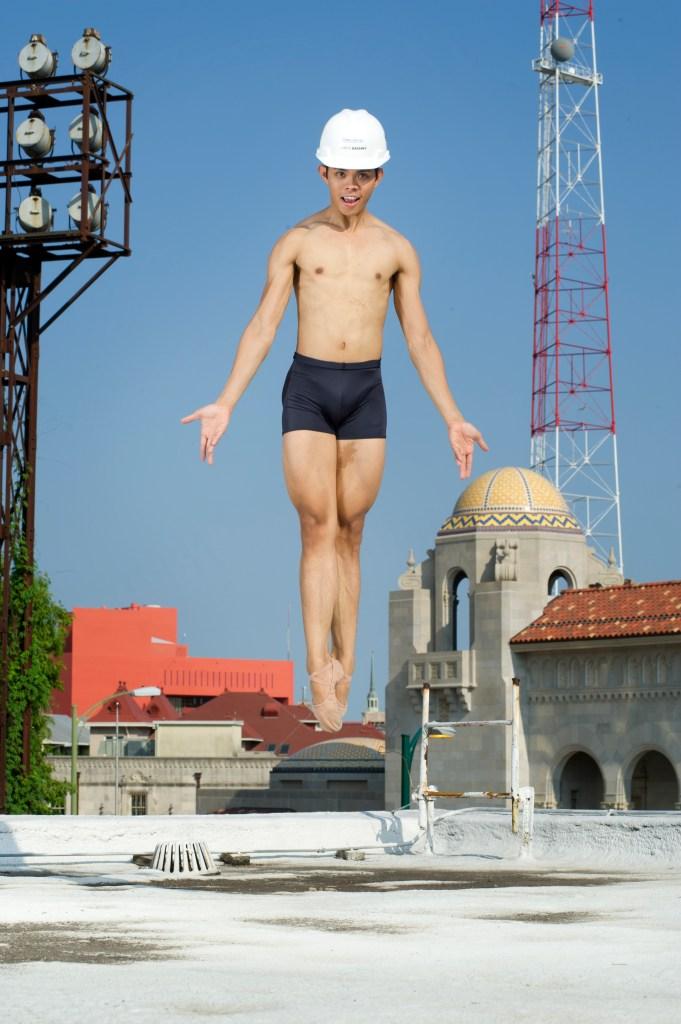 Principal Dancer Jayson Pescasio by the Tobin construction site. Still Life Photography by Alexander Devora.