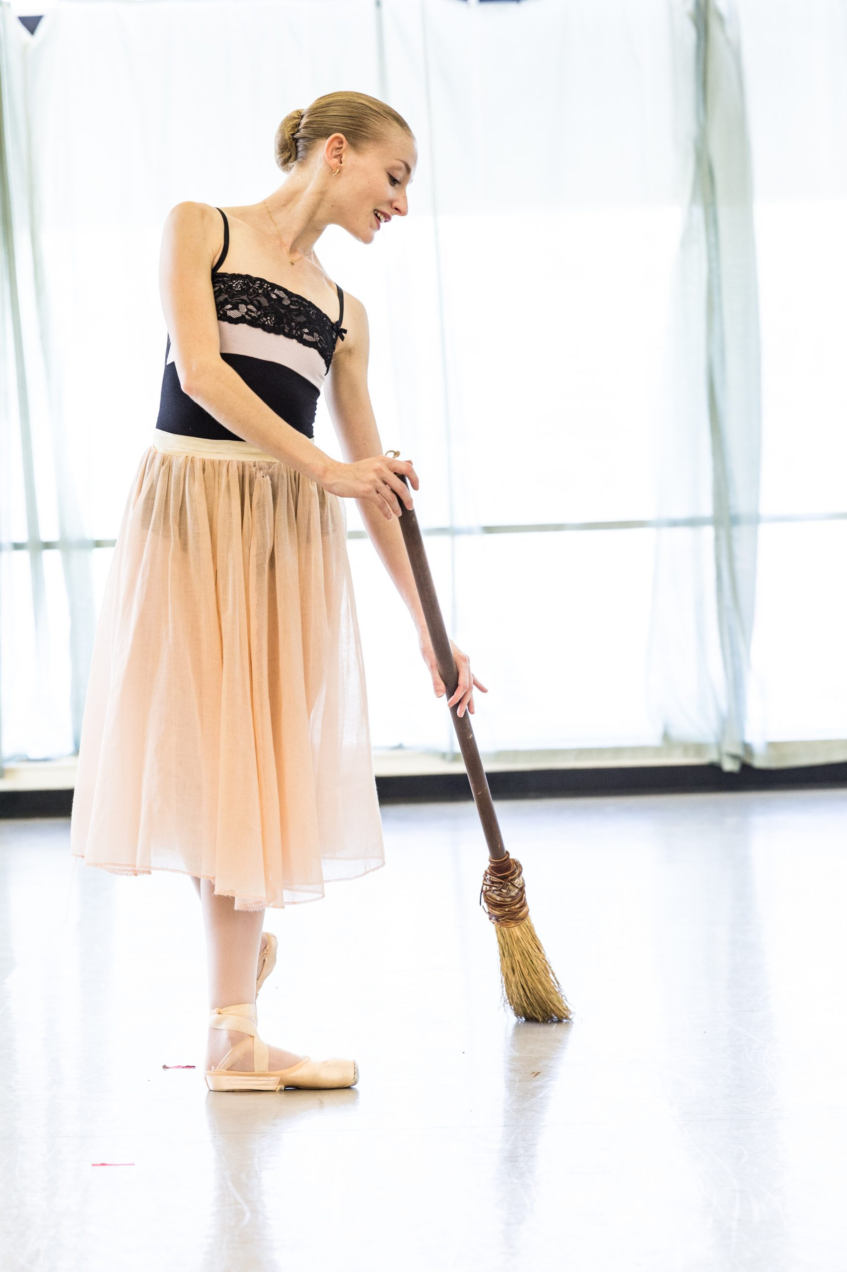Principal Ballerina Sarah Pautz rehearsing Cinderella. Photo by Joel Spring, RxDesign.com.