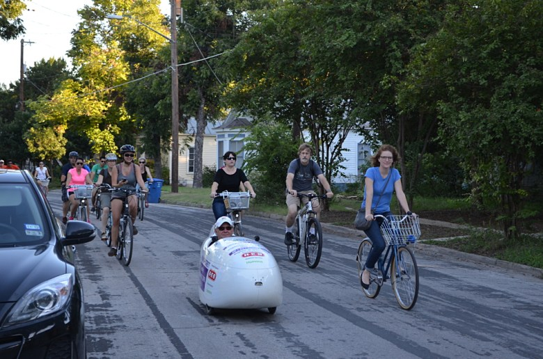 The Something Monday crew rides through the King William Historic District. Photography by Cooksterz.