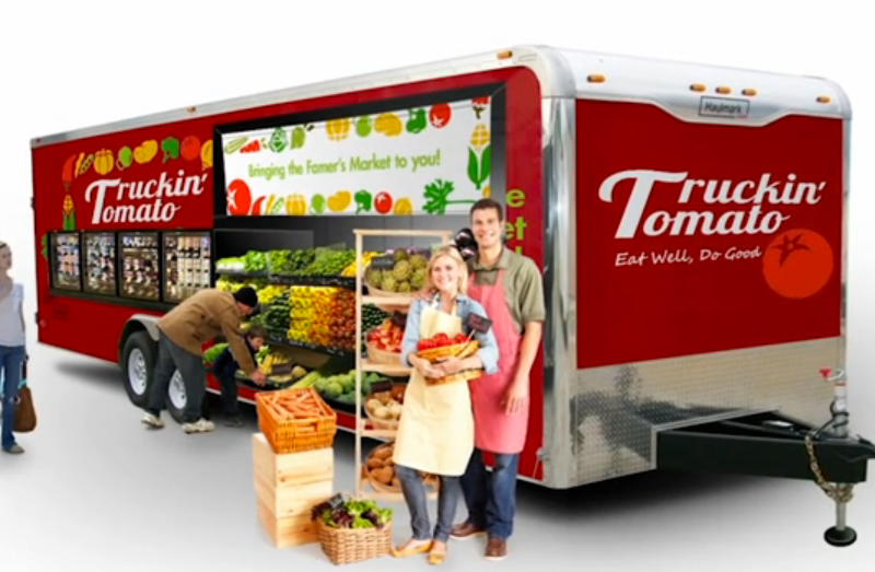 Rendering of a possible Truckin' Tomato trailer. Courtesy image.