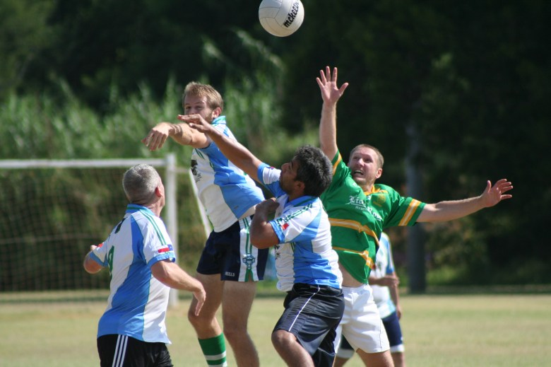 Siclovia is an opportunity to get out and about and get exposed to new activities like Gaelic football. Photo courtesy of Carolyn Villarreal