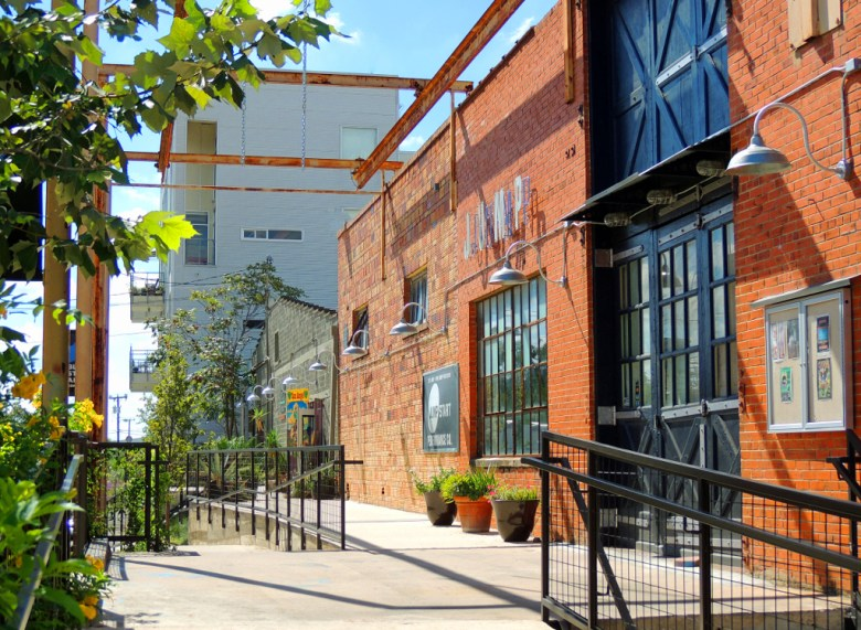 The nearby Blue Star Arts Complex is a good example of mixed use, with residences, galleries, shops, restaurants, and a farmer's market all contributing to the location's vibrancy. Photo by Charlotte Luongo.