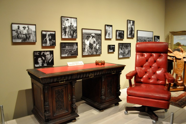 Former Texas. Gov. Dolph Briscoe's home office, donated by the Briscoes. Photo by Iris Dimmick.