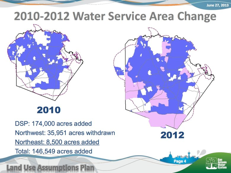 In just two years, SAWS added 146,549 acres of serviced land.