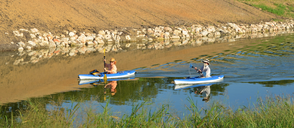 Kayakers on the Mission Reach. Photo by Cooksterz Littlefield.