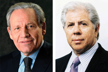 "Robert Upshur ""Bob"" Woodward (left) and Carl Bernstein (right). Courtesy photos."