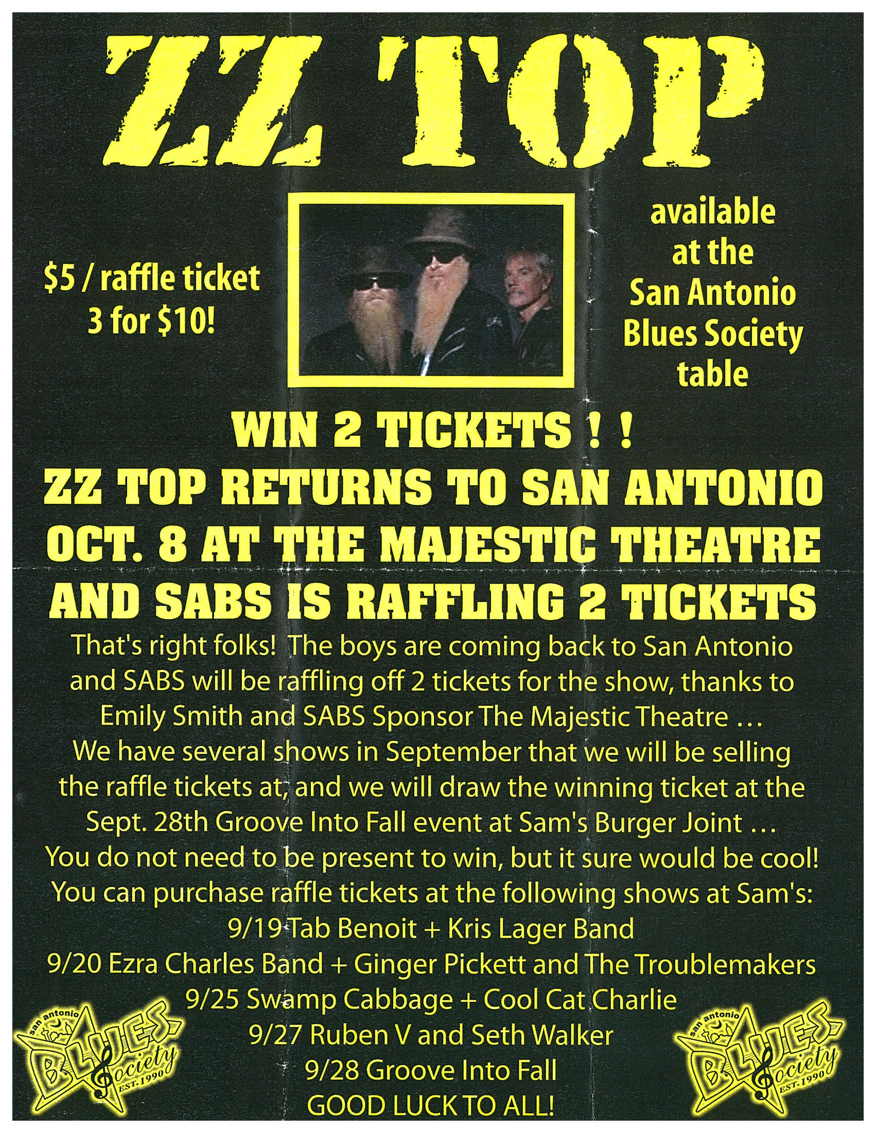 That little old band from Texas opened for Janis Joplin in 1969. They're still around. ZZ Top will perform at the Majestic Theater on October 8.