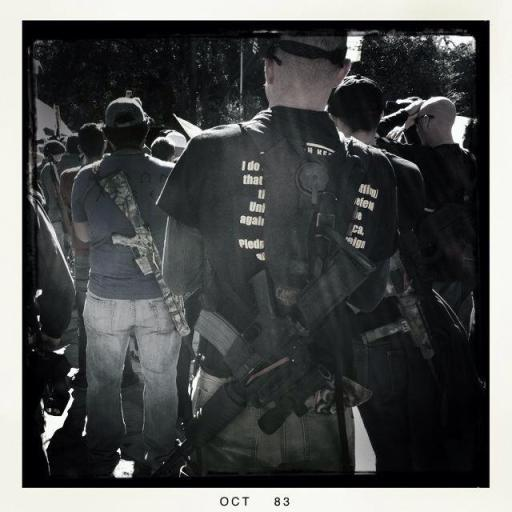A participant of the gun rally. Photo by Leslie Kelly.
