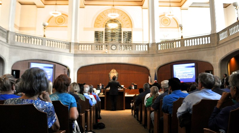 City Attorney Michael Bernard addresses City Council during a session in September. Photo by Iris Dimmick.