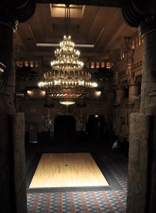 Aztec Theatre lobby.