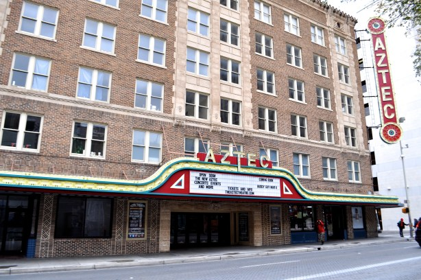The Aztec Theater Photo by Iris Dimmick.
