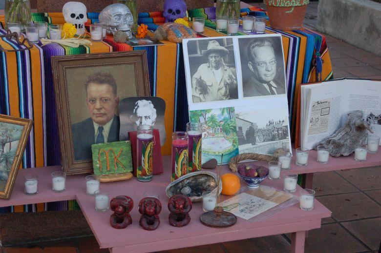 """Dia de Los Muertos altar for Maury Maverick, former progressive mayor of San Antonio who """"defeated the machine."""""""