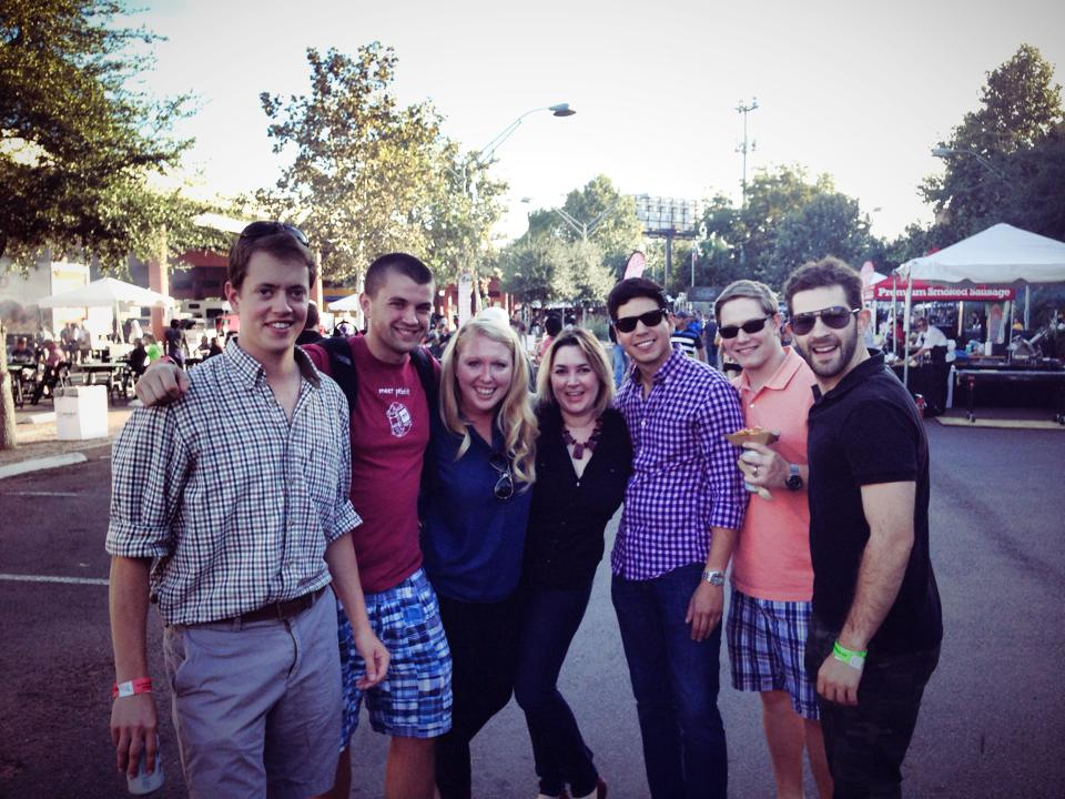 Young Professionals basking in the glow of Meatopia at Pearl. Photo courtesy Kevin McCullough.