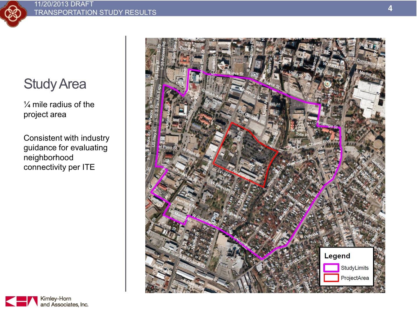 From the South Main Avenue traffic study draft presentation.