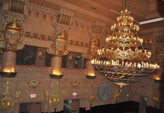 The Aztec Theatre's iconic Meso-American interior. Photo by Annette Crawford.