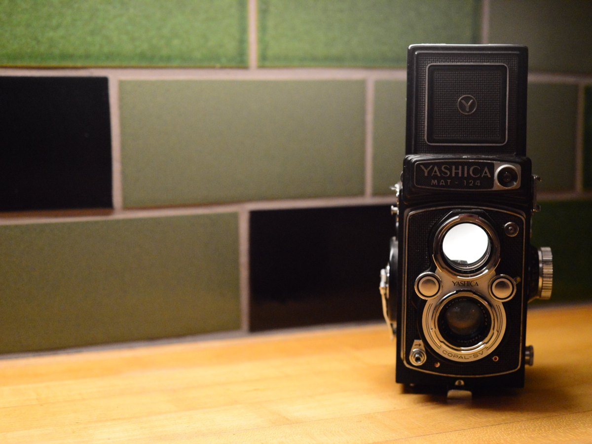 Vintage Yashica MAT-124 twin-reflex camera. Photo by Page Graham