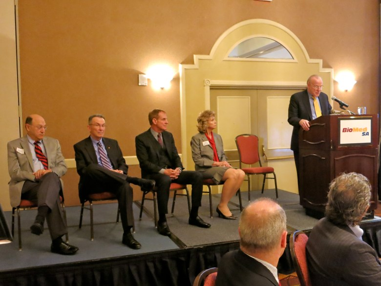 Steve, Ed, Peter, Linda Myers, and BioMed SA chairman Ken Trevett.