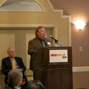 John McCarrey at the 2013 BioMed SA breakfast meeting.