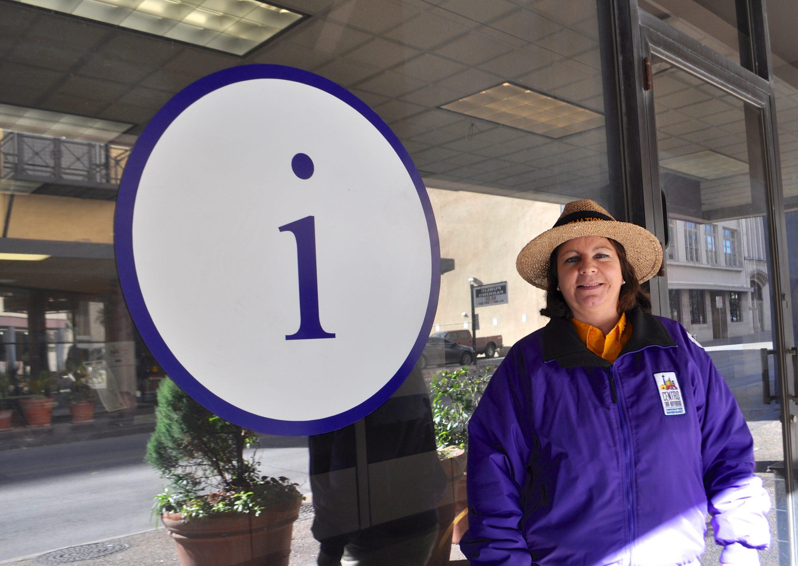 Ambassador Amigo Supervisor Stefanie Toliver infront of the Centro San Antonio office at 219 E. Travis St. Photo by Iris Dimmick.