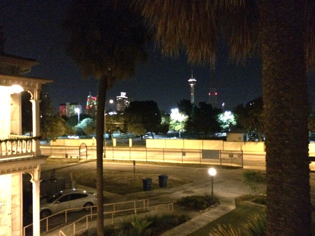 View of Downtown from the back porch of The Commanders House. Photo by Jaime Solis