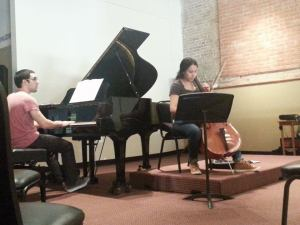 Anastasio and Lamprea at an open rehearsal at the Radius center downtown. Courtesy photo.