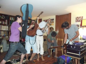 Feeling the ecstasy of the music with my Spanish rock friends of Ligula in Madrid.