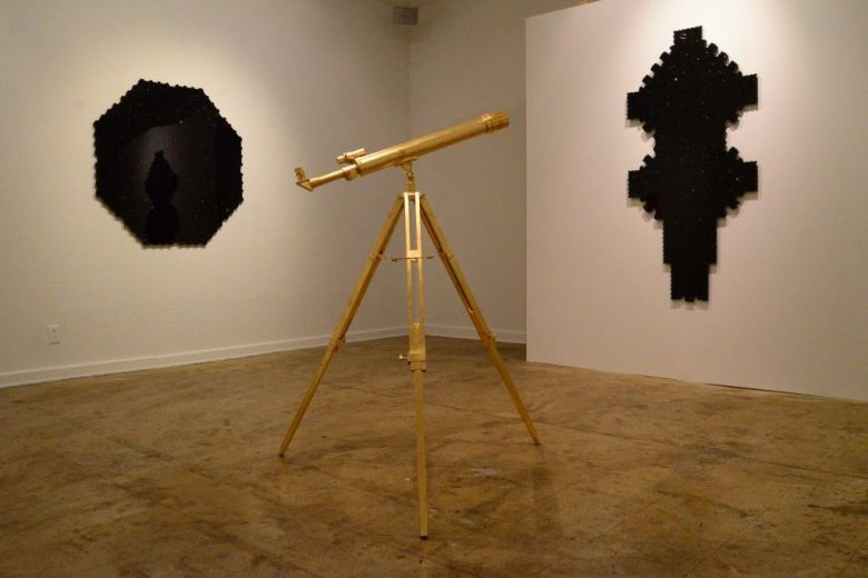 """""""Shape of the Universe"""" exhibit by Chris Sauter at Fl!ght Gallery. Photo by Page Graham."""