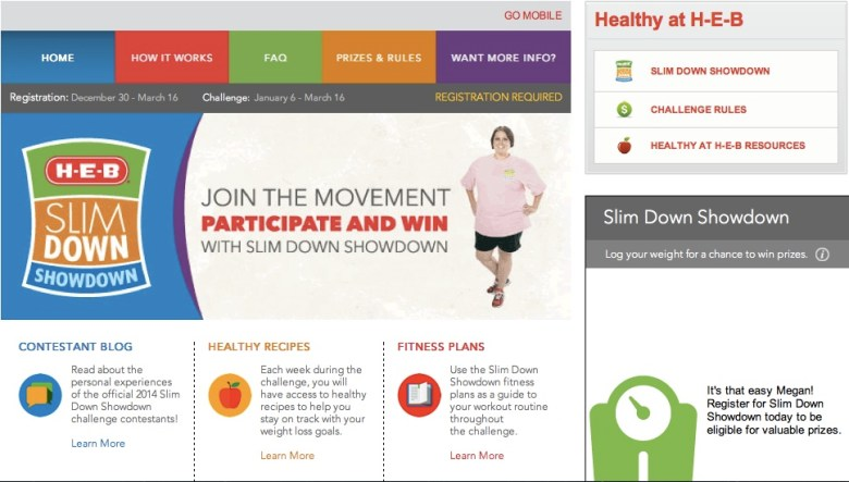 H-E-B's free, online healthy living course at www.heb.livehealthier.com