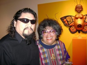 Local artist Alex Rubio and  UTSA Professor Emeritus Ellen Riojas Clark. Courtesy.
