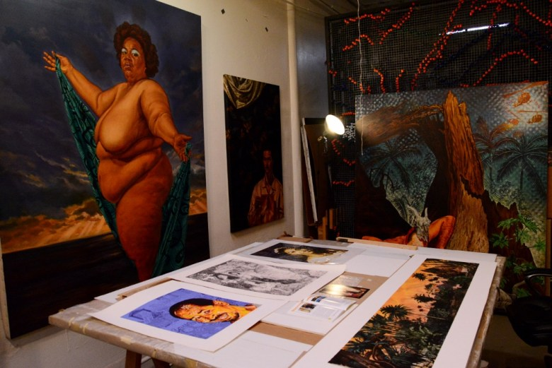 The studio space of Angel Rodriguez-Diaz. Photo by Page Graham.