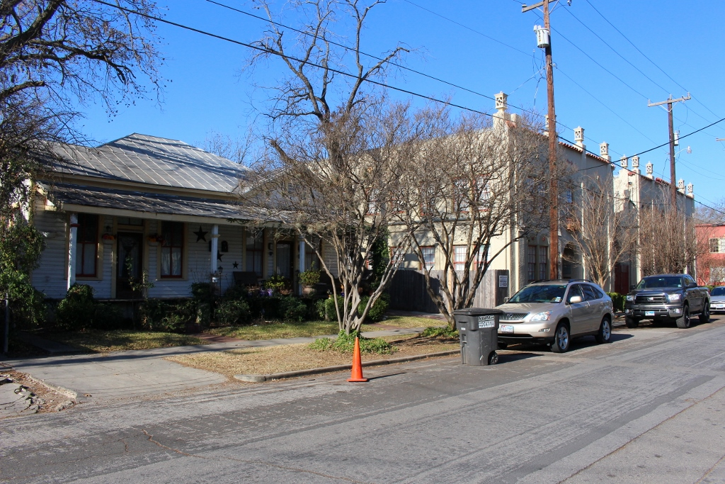 One homeowner on Beauregard Street has come up with an individual (if not illegal) solution. Photo by Page Graham.