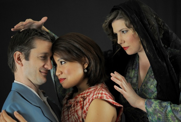 """(From left) Opera Picolla's Nathan Munson, Dee Donasco and Alissa Anderson in """"La Curandera,"""" performed at the Empire Theatre on Valentine's Day weekend in 2014. Photo by Kristian Jaime Photography."""
