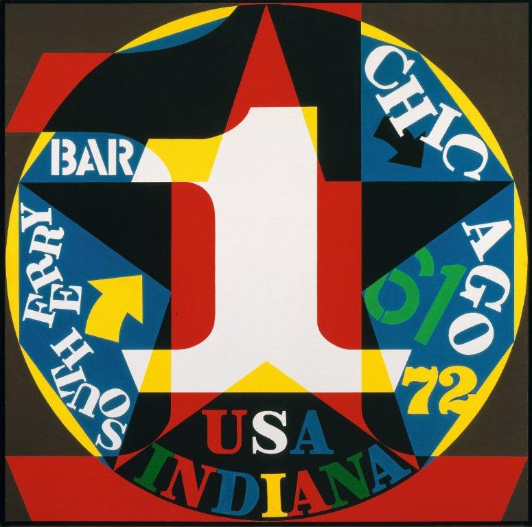 Robert Indiana, Decade Auto Portrait. Image courtesy of the McNay Art Museum.