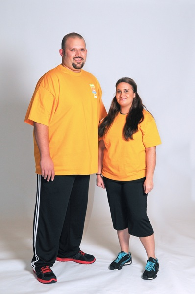 Ruben and Melanie pose for a photo as they begin training for the 2013 H-E-B Slim Down Showdown. Courtesy photo.