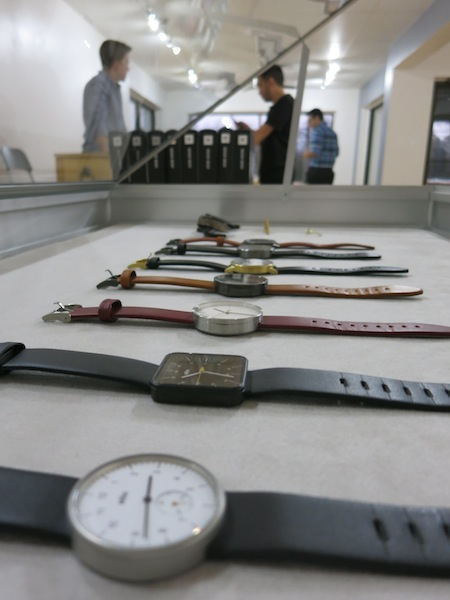 Uniform Wares watches at S.C.R. Photo by Miriam Sitz.