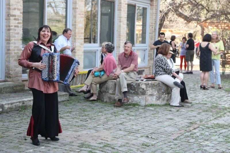 Guests mingle and enjoy French accordion music during the 2011 French Cultures Festival in San Anotnio. Courtesy photo.