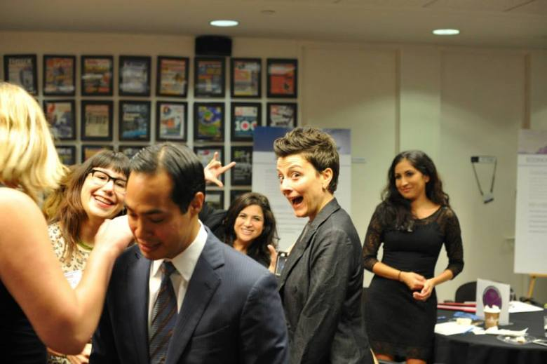 Molly Cox at a recent SA2020 event at Geekdom with Major Julian Castro in the foreground. Courtesy photo.