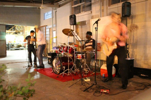 Live music at the 1906 warehouse. Photo by Page Graham.