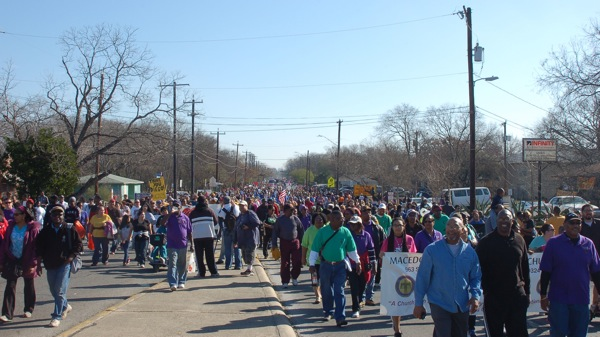 Eastside San Antonio's MLK March is one of the largest in the nation. Photo by Rene Jaime Gonzalez.
